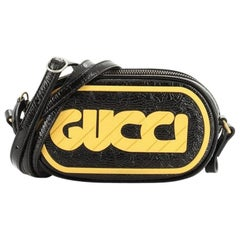 Gucci Game Patch Crossbody Bag Patent