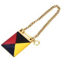 Gucci Geometric Mondrian Style Key Ring Vintage Italian