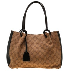 Gucci GG Canvas and Leather Tote