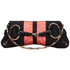 Gucci GG Canvas Horsebit Chain Baguette Bag