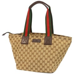 GUCCI GG canvas Shelly line Womens tote bag 131230 beige