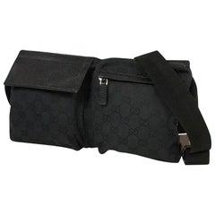 GUCCI GG canvas Womens Waist bag 28566 2123 black