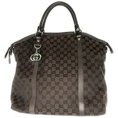 Gucci GG Charm Convertible Large Dome Satchel