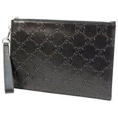 GUCCI GG embossed Mens clutch bag 625569 black