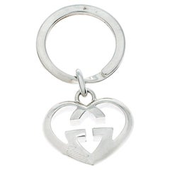 Gucci GG Heart Love Britt Silver Key Chain