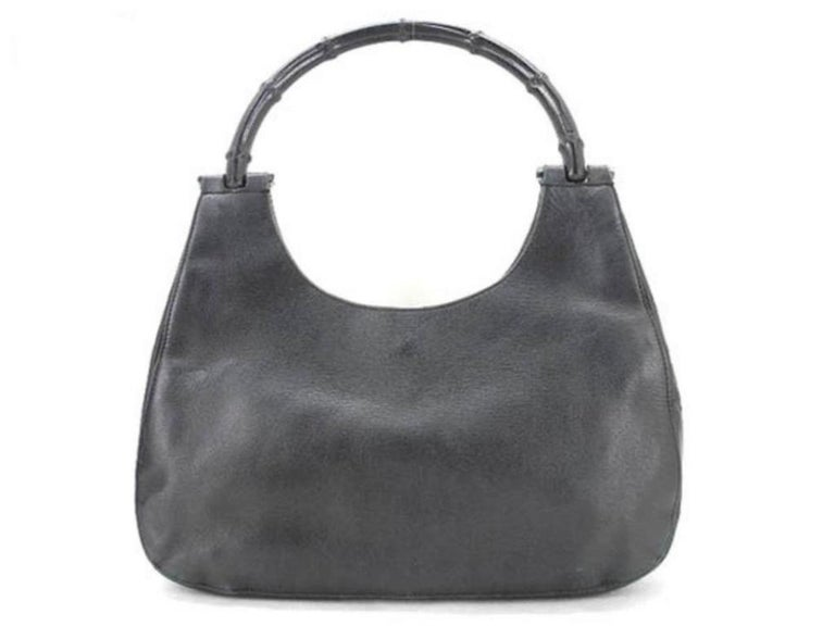 bde28bfe5ad3 Date Code/Serial Number: 001 3739 002058 Made In: Italy Measurements:  Length. Gucci Gg Hobo-223599 Black Leather Shoulder Bag ...