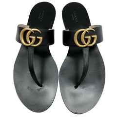 Gucci GG Logo Marmont Sandals - size 39.5 (UK6.5)