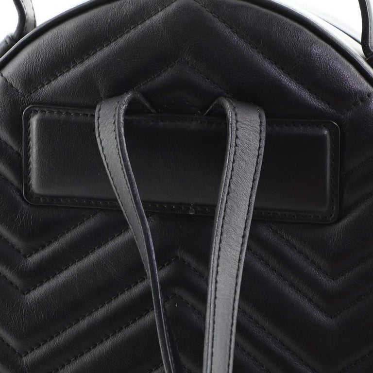 Gucci GG Marmont Backpack Matelasse Leather Small For Sale 2