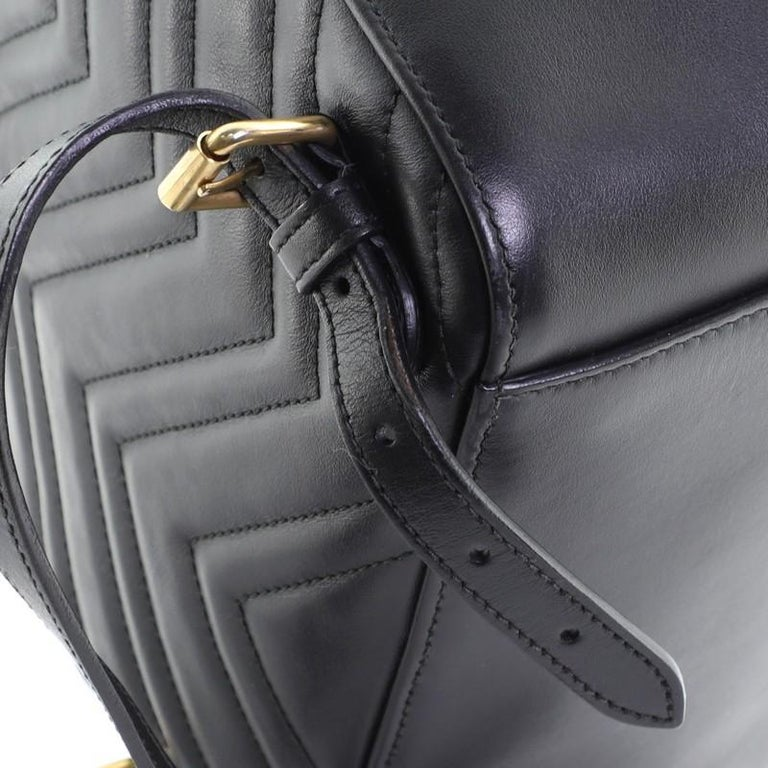 Gucci GG Marmont Backpack Matelasse Leather Small For Sale 4