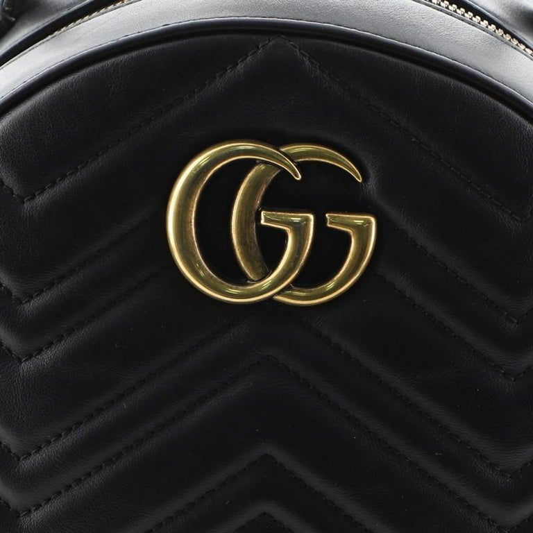 Gucci GG Marmont Backpack Matelasse Leather Small For Sale 5