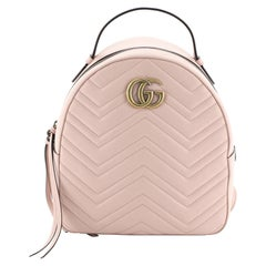 Gucci GG Marmont Backpack Matelasse Leather Small