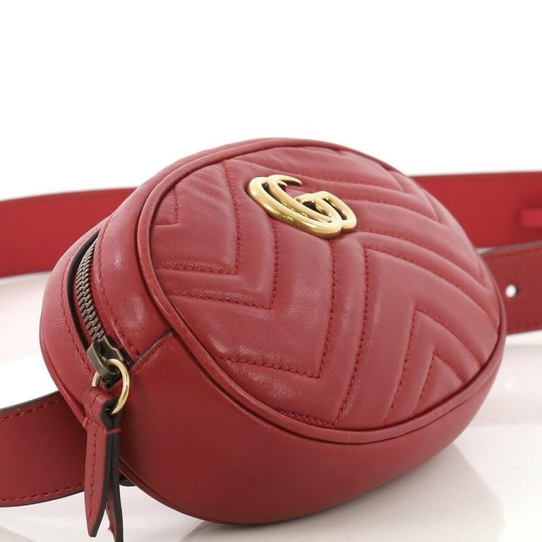 Gucci GG Marmont Belt Bag Matelasse Leather 2
