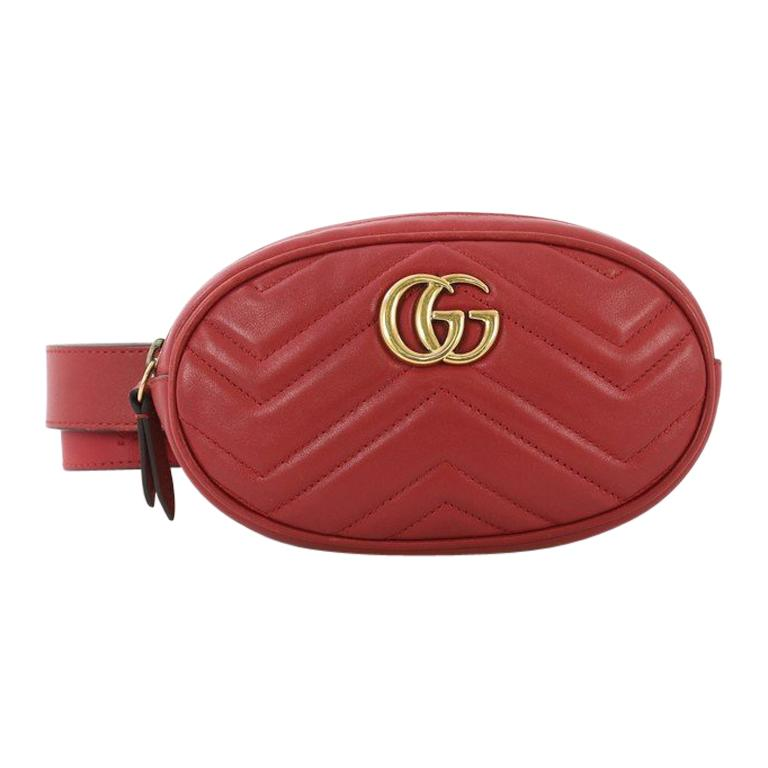 2fe7524e0ff6 Gucci GG Marmont Belt Bag Matelasse Leather For Sale at 1stdibs