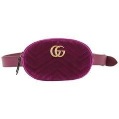 Gucci GG Marmont Belt Bag Matelasse Velvet