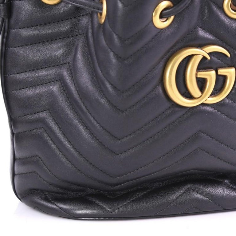 716b8e234 Gucci GG Marmont Bucket Bag Matelasse Leather Small For Sale 2