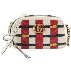 Gucci GG Marmont Camera Bag Trompe L'Oeil Matelasse Leather Small