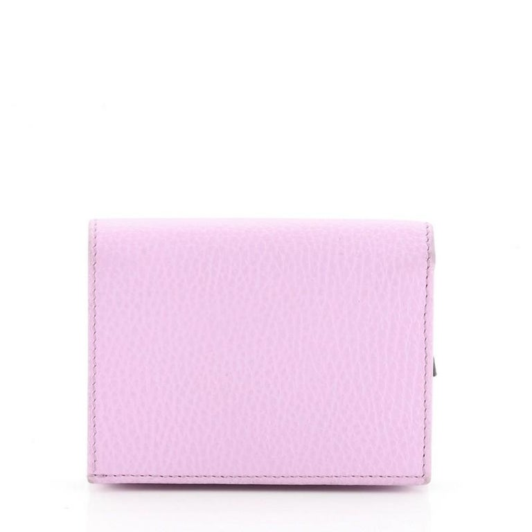 Women's or Men's Gucci GG Marmont Card Case Embellished Leather For Sale