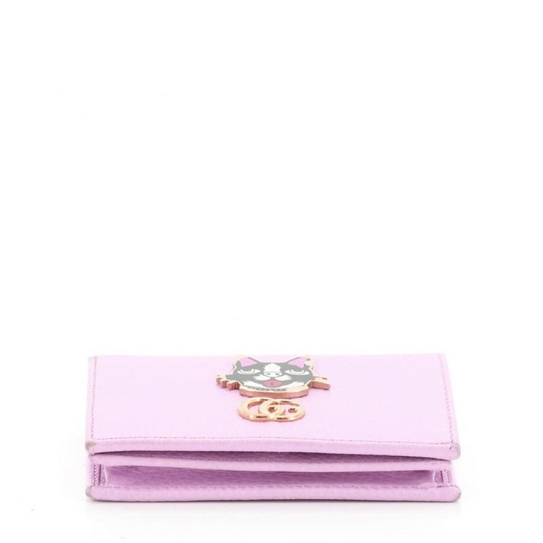 Gucci GG Marmont Card Case Embellished Leather For Sale 1