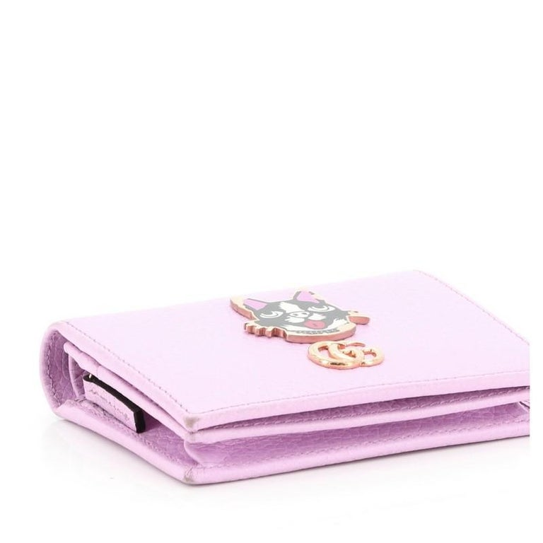Gucci GG Marmont Card Case Embellished Leather For Sale 3