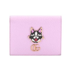 Gucci GG Marmont Card Case Embellished Leather