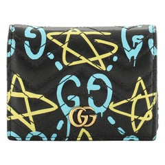 Gucci GG Marmont Card Case GucciGhost Matelasse Leather