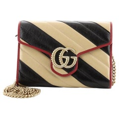 Gucci GG Marmont Chain Wallet Diagonal Quilted Leather Mini