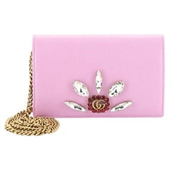 Gucci GG Marmont Chain Wallet Embellished Leather Mini