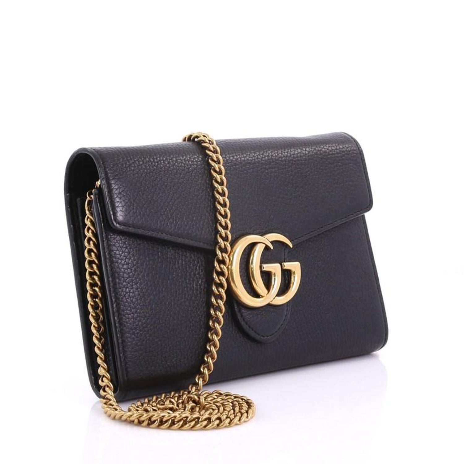 d7aafb37d9a Gucci GG Marmont Chain Wallet Leather Mini at 1stdibs