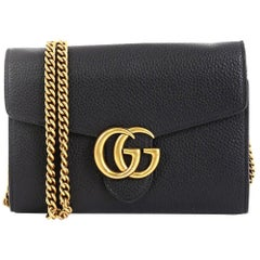 Gucci GG Marmont Chain Wallet Leather Mini
