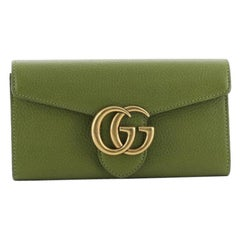 Gucci  GG Marmont Continental Wallet Leather