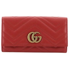 Gucci GG Marmont Continental Wallet Matelasse Leather