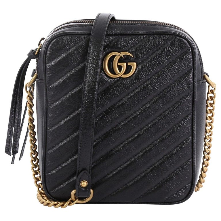 52f7d73511a8 Gucci GG Marmont Double Zip Camera Bag Matelasse Leather Mini For Sale