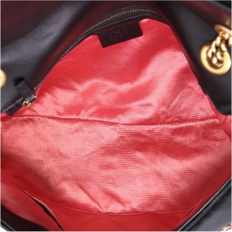 Women's or Men's Gucci GG Marmont Flap Bag Embroidered Matelasse Velvet Medium For Sale