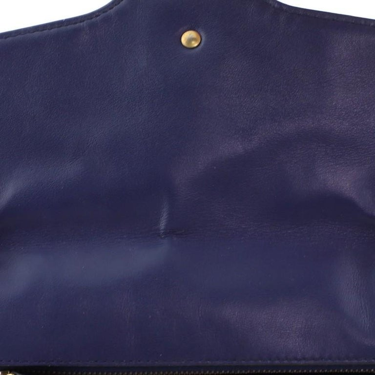 Gucci GG Marmont Flap Bag Embroidered Matelasse Velvet Small For Sale 1