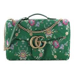 Gucci GG Marmont Flap Bag Matelasse Floral Jacquard Maxi