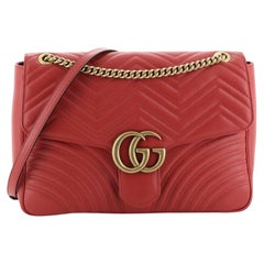 Gucci GG Marmont Flap Bag Matelasse Leather Large