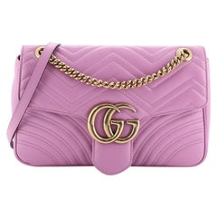 Gucci GG Marmont Flap Bag Matelasse Leather Medium