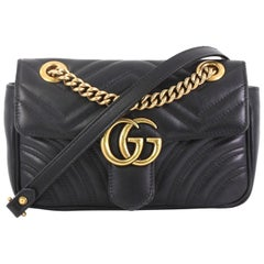 Gucci GG Marmont Flap Bag Matelasse Leather Mini