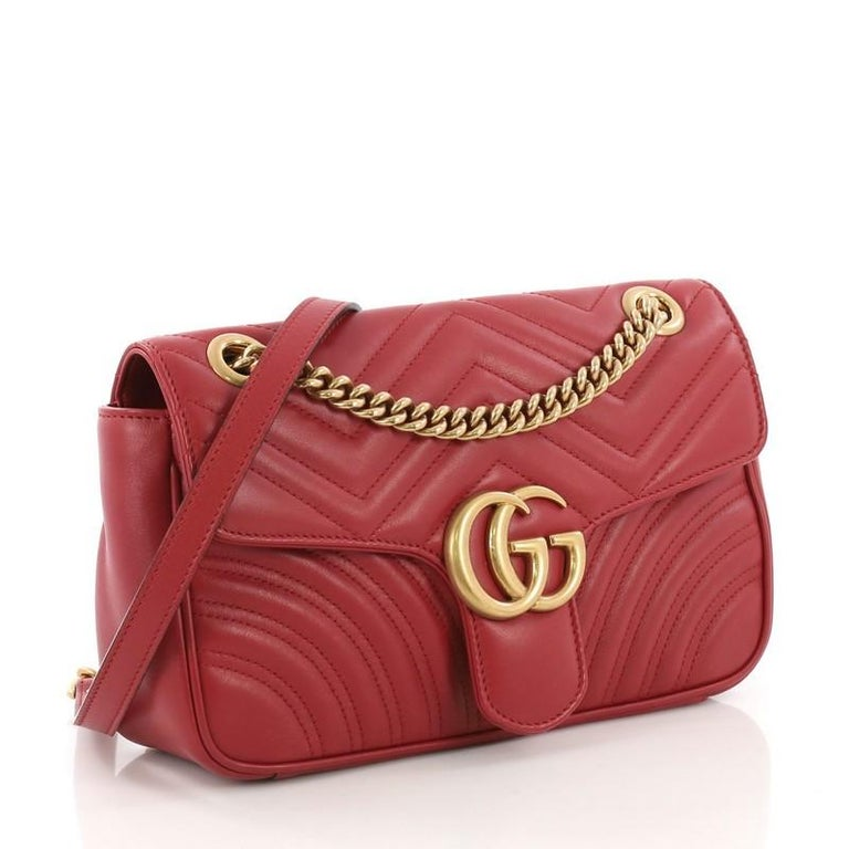 2645143891a Gucci GG Marmont Flap Bag Matelasse Leather Small For Sale at 1stdibs