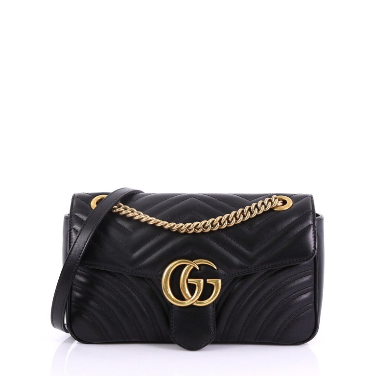 abca8de011f6 Gucci GG Marmont Flap Bag Matelasse Leather Small at 1stdibs