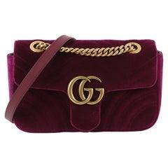 f7b4863f50ca78 Gucci GG Marmont Flap Bag Matelasse Velvet Mini