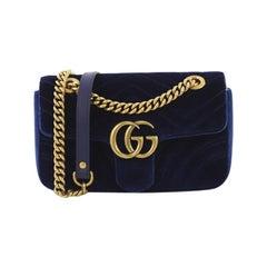 c5ff1cbf0c893f Gucci GG Marmont Flap Bag Matelasse Velvet Mini