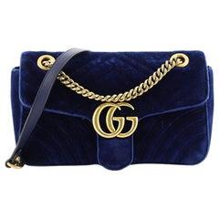 Gucci GG Marmont Flap Bag Matelasse Velvet Small