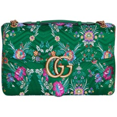 GUCCI GG Marmont Maxi Handbag Quilted Floral Jacquard