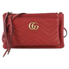 Gucci GG Marmont Pochette Crossbody Matelasse Leather Small