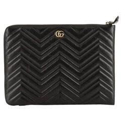 Gucci GG Marmont Portfolio Clutch Matelasse Leather