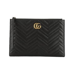 Gucci GG Marmont Pouch Matelasse Leather