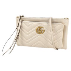 GUCCI GG Marmont quilting cross body Womens shoulder bag 453878 ivory
