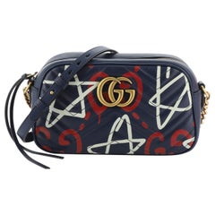 Gucci GG Marmont Shoulder Bag GucciGhost Matelasse Leather Small