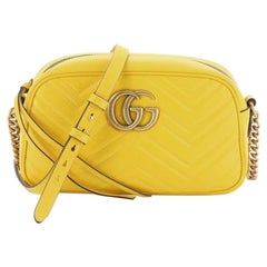 Gucci GG Marmont Shoulder Bag Matelasse Leather Small